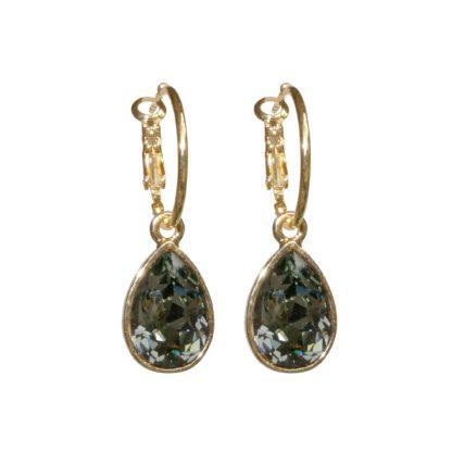 Flow Jewels oorbel 13335S- goud donkergrijs