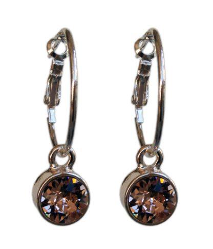 Flow Jewels oorbel 18320S-zilver-bruin