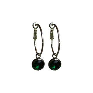 Flow Jewels oorbel 18334-zilver-groen