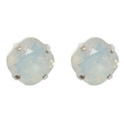 Flow Jewels oorbel 19309 zilver-wit opaal