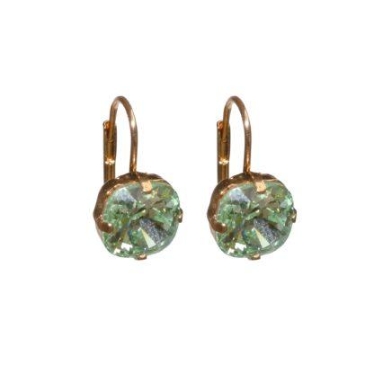 Flow Jewels oorbel 19310 goud-groen