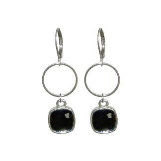 Flow Jewels oorbel 19311 - zilver zwart