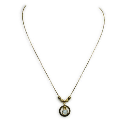 Flow Jewels ketting goud-wit opaal