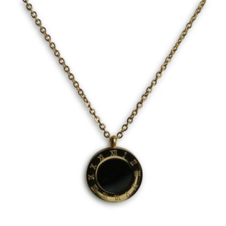 Flow Jewels ketting goud-zwart