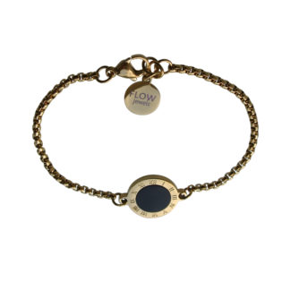 Flow Jewels armband goud-zwart