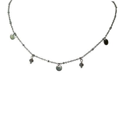 Flow Jewels 19235 zilver- grijs opaal
