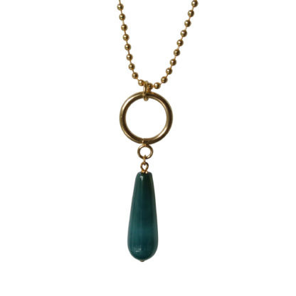 Flow Jewels ketting goud-groen