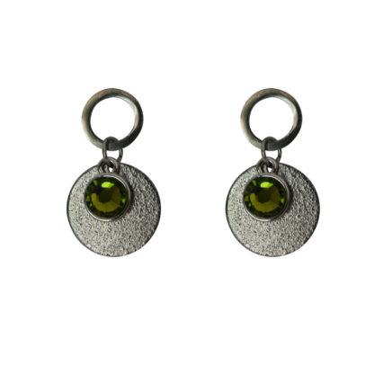 Flow Jewels oorbellen zilver-khaki