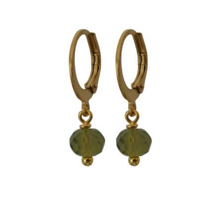 Flow Jewels oorbellen army groen