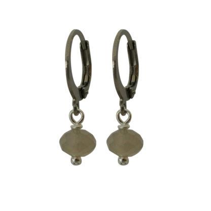 Flow Jewels oorbellen zilver licht grijs