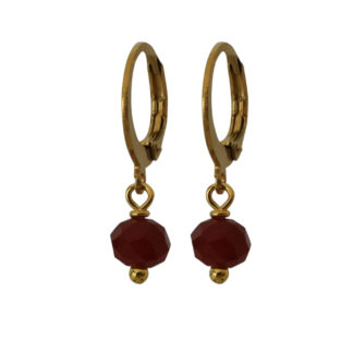 Flow Jewels oorbellen rood