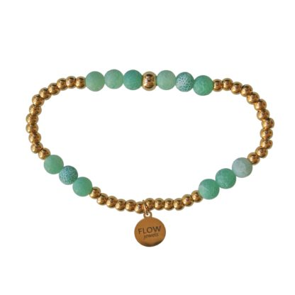 FlowJewels armband groen-goud