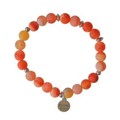 FlowJewels armband oranje-zilver