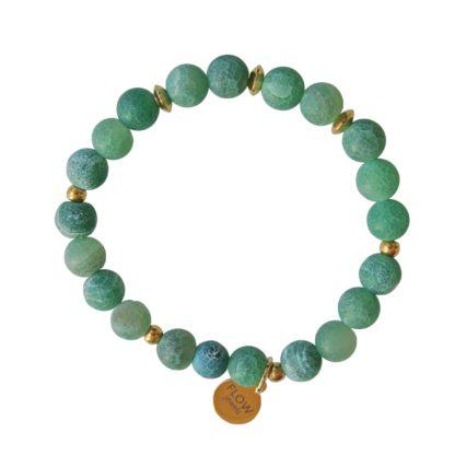 FlowJewels armband groen-goud