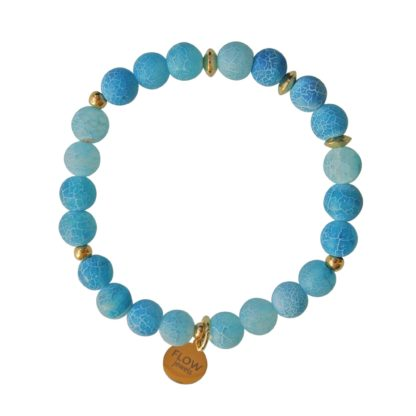 FlowJewels armband blauw-goud