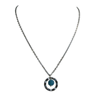 FlowJewels ketting zilver-blauw