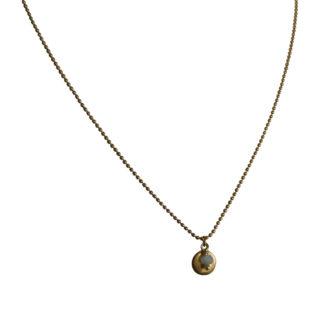 FlowJewels ketting goud-lichtblauw opaal