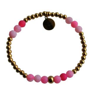 FlowJewels armband goud-roze