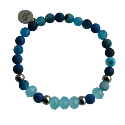 FlowJewels armband zilver-blauw