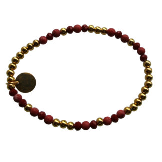 FlowJewels armband goud - rood