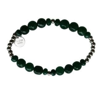 FlowJewels armband zilver - groen
