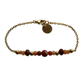 FlowJewels armband goud - bruin