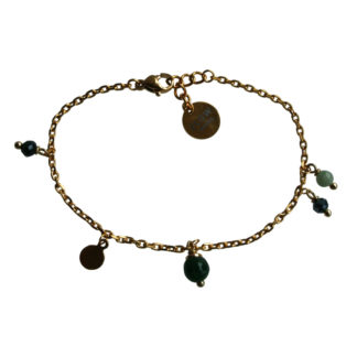 FlowJewels armband goud - groen