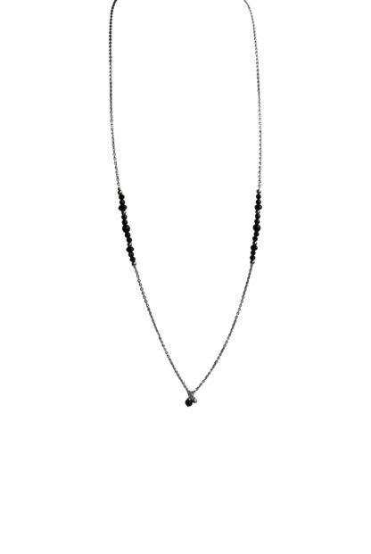 FlowJewels ketting zilver - zwart