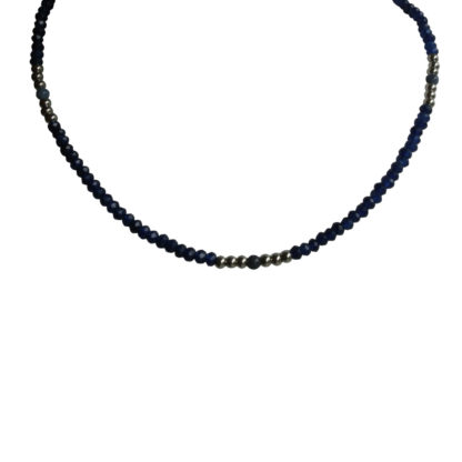 FlowJewels ketting zilver - blauw