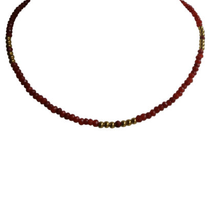 FlowJewels ketting goud - rood