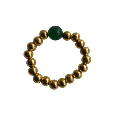 FlowJewels ring goud-groen