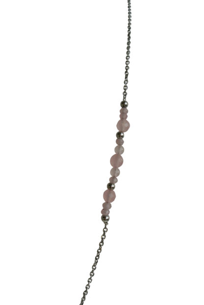 FlowJewels ketting zilver- roze