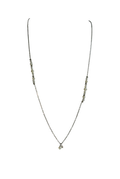 FlowJewels ketting zilver - wit