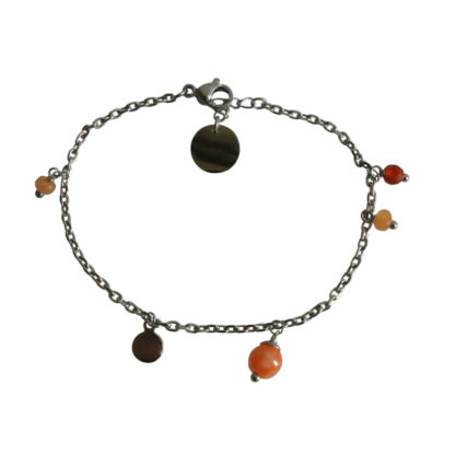 FlowJewels armband zilver - oranje