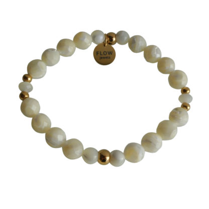FlowJewels armband goud - wit