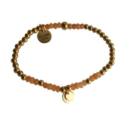 FlowJewels armband goud - oranje