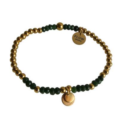 FlowJewels armband goud - khaki