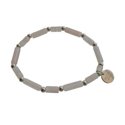 FlowJewels armband zilver - licht roze