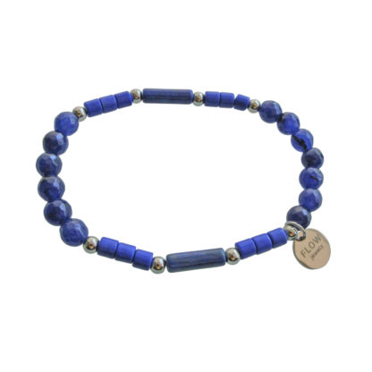 FlowJewels armband zilver - blauw