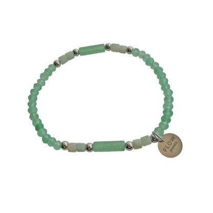 FlowJewels armband zilver - licht groen