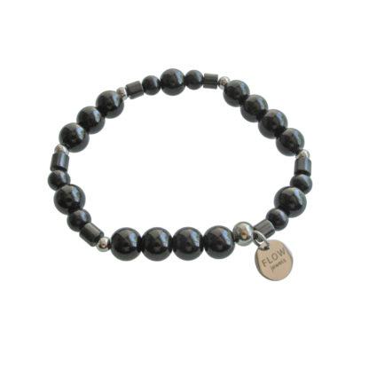 FlowJewels armband zilver - zwart