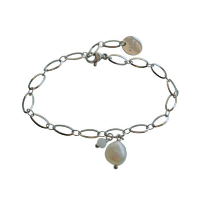 FlowJewels armband zilver - wit