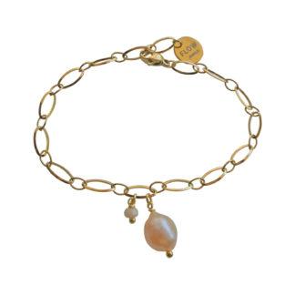 FlowJewels armband goud - zalm