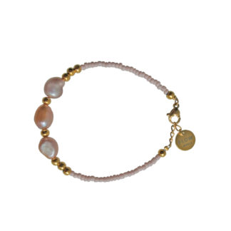 FlowJewels armbanden goud - oud roze