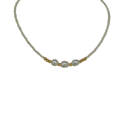 FlowJewels ketting goud - wit