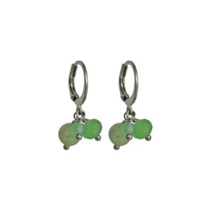 FlowJewels oorbellen zilver - licht groen