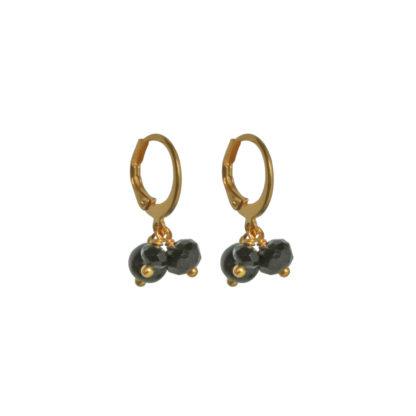 FlowJewels oorbellen goud - zwart