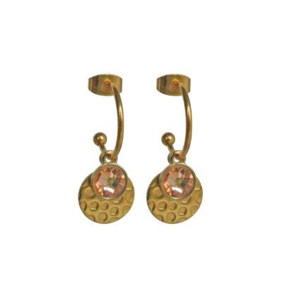 FlowJewels oorbellen goud - oudroze